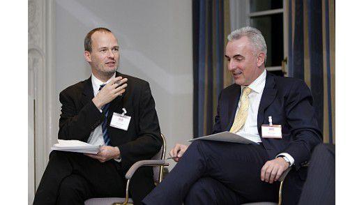 CIO-Chefredakteur Horst Ellermann (l.) diskutierte mit seinen Gästen über E-Government.