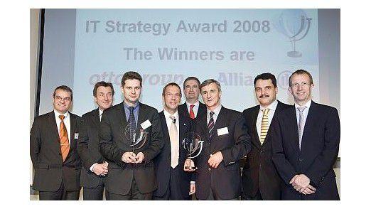 Jury und Gewinner des Handelsblatt Strategy Awards.