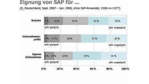 Der Einsatz von SAP variiert je nach Branche und Unternehmensgröße.