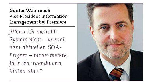 Günter Weinrauch, Vice President Information Management bei Premiere.