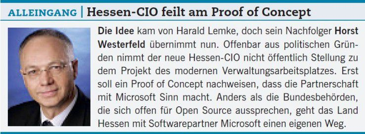 Alleingang: Hessen-CIO feilt am Proof of Concept.