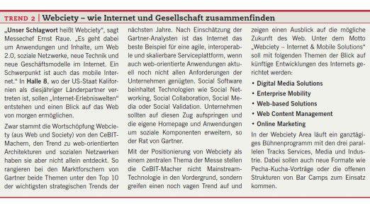Trend 2: Webciety - wie Internet und Gesellschaft zusammenfinden.