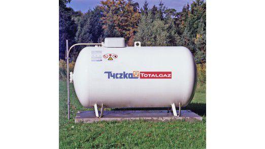 Flüssiggas-Tank von TyczkaTotal. Das Unternehmen versorgt Haushalte, Unternehmen und Tankstellen.