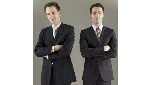 Die Experten Volker Kitz (links) und Manuel Tusch empfehlen in der Krise besonderes Engagement im Job.