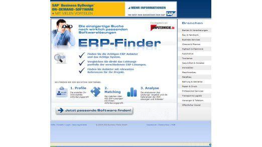 Neu: Der ERP-Finder.