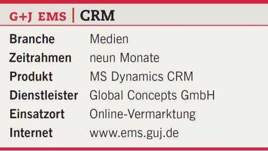 CRM bei Gruner + Jahr.