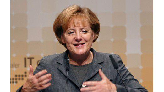 Bundeskanzlerin Angela Merkel auf dem IT-Gipfel.