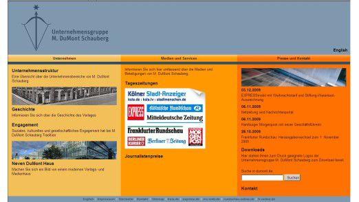 Die Unternehmensgruppe M. DuMont Schauberg.