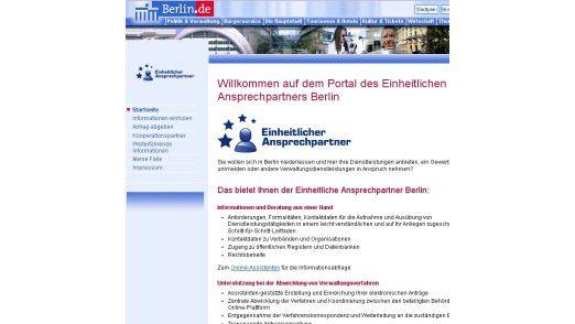 Das Portal des Landes Berlin. Im Bereich Bürgerportale soll es zur Zusammenarbeit kommen.