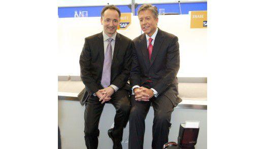 Das neue SAP-Führungsduo auf der CeBIT: Jim Hagemann Snabe (links) und Bill McDermott.
