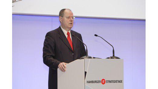 Keynote-Sprecher auf den Hamburger IT-Strategietagen 2010: der ehemalige Bundesfinanzminister Peer Steinbrück.