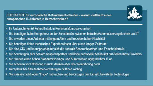 Gute Gründe, einen europäischen Provider zu wählen: Eine Checkliste von Roland Berger.