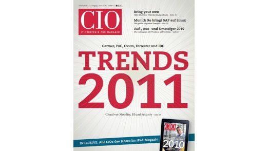 Die neue Januar-Ausgabe des CIO-Magazins.
