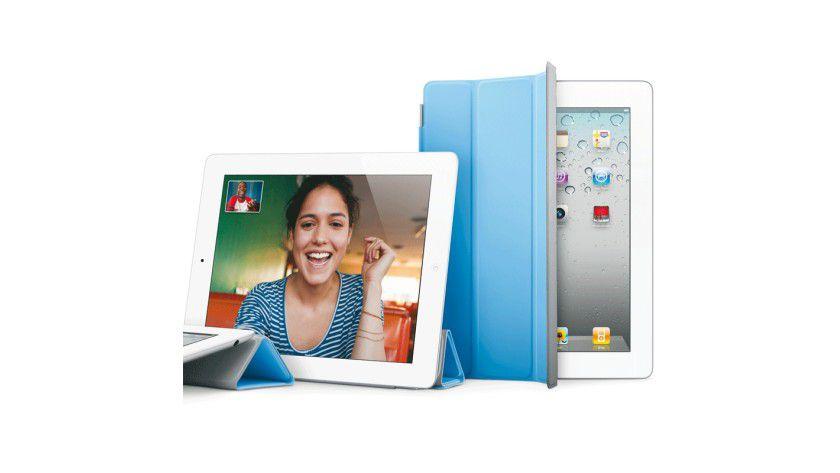 """Schon im Unternehmen: das neue """"Spielzeug"""" iPad 2."""