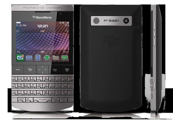 Das Blackberry P'9981, das RIM in Zusammenarbeit mit Autohersteller Porsche entwickelt hat.