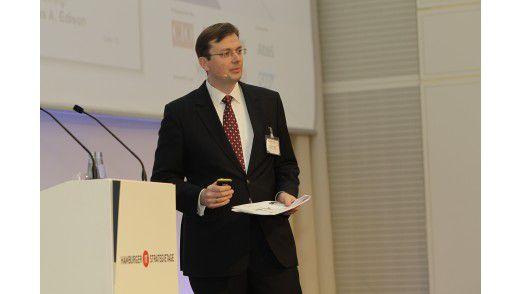 Andreas König, CIO der ProSiebenSat.1 Media AG auf den Hamburger IT-Strategietagen 2012.