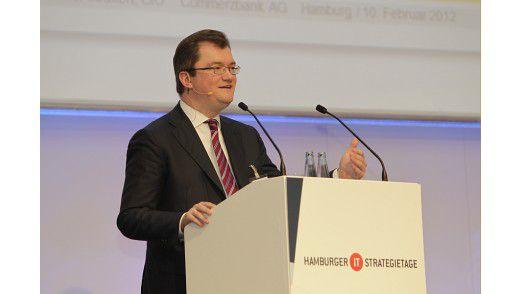 Commerzbank-CIO und CIO des Jahres Peter Leukert auf den Hamburger IT-Strategietagen 2012.