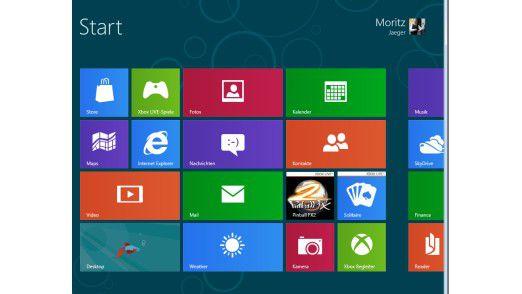 Der neue Desktop von Windows 8 ist ganz auf Touchscreen-Computer und Tablets ausgerichtet.
