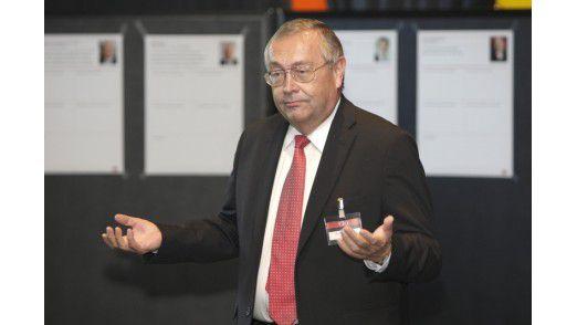 """Rainer Janßen, CIO der Munich Re: """"100 Prozent aller Technologien sind in zehn Jahren weiter im Rennen"""" - 55 Gegenstimmen."""