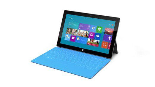 Das Microsoft Surface beherbergt in seiner Schutzhülle eine Tastatur.
