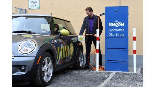 Auch Ladestationen für E-Autos wie den Mini E gehören zum Geschäft.