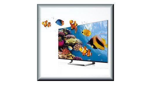 Der 3-D-Fernseher LM670S von LG wird mit vier 3D-Brillen und einem Brillen-Clip-On an Käufer ausgeliefert.