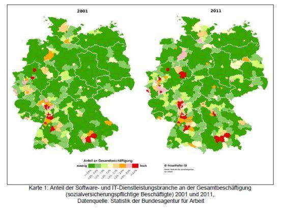 So hat sich die deutsche IT-Landkarte in den vergangenen zehn Jahren verändert.