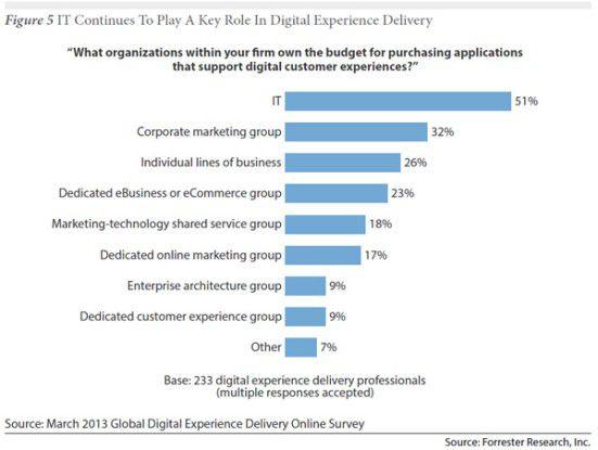 Wo liegen die Budgets für Customer-Experience-Vorhaben?