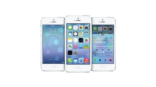 Noch gar nicht richtig da und schon ein Medienstar: das iOS 7.