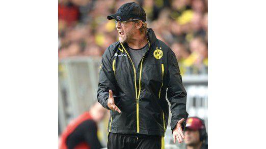 Vorbild Kloppo: Der Trainer von Borussia Dortmund fliegt zwar gelegentlich wegen Ausrastern vom Platz, steht aber nicht in Verdacht langweilig zu sein.