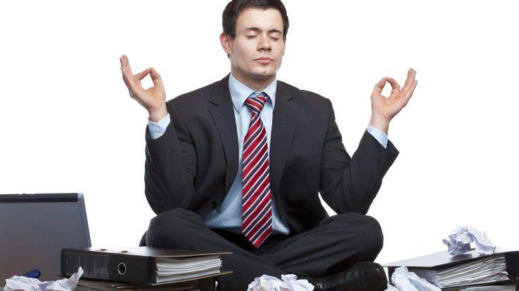 Es muß nicht immer der Mittagsschlaf sein: Meditieren kann genauso entspannen.