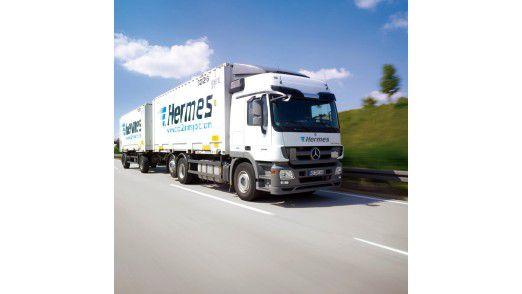 Unterwegs in Deutschland: Ein Hermes Lkw.