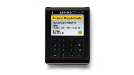 Das Lesegerät Cyberjack Wave verbindet sich via Bluetooth mit mobilen Endgeräten.