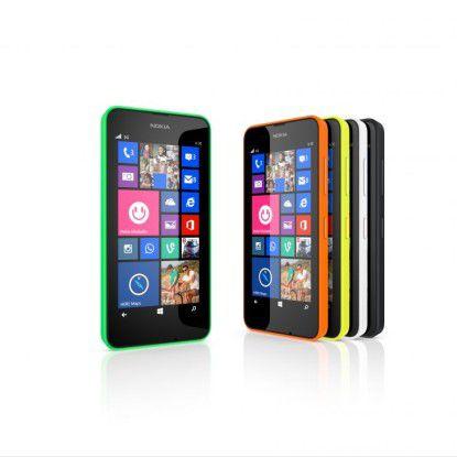 Die Farben des Nokia Lumia 630.