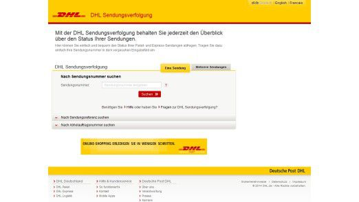 DHL Sendungsverfolgung: Kunden, die online den Zustellungsweg ihrer Pakete verfolgen wollten, bekamen versehentlich Daten zu fremden Lieferungen zu sehen.
