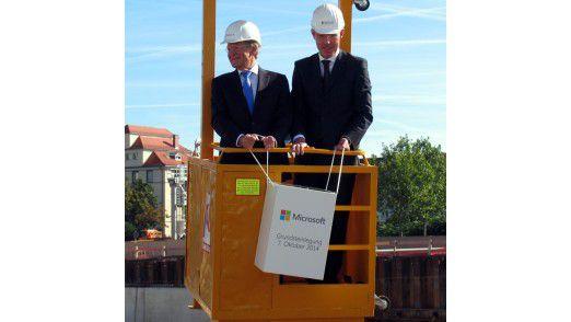 Argenta-Chef Helmut Röschinger (links) neben Microsoft-Deutschlandchef Christian P. Illek.
