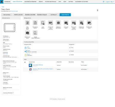 Der Blackberry Enterprise Server 12 (BES 12) ist die zentrale Plattform zu Verwaltung von Devices mit Android, iOS, Windows Phone und Blackberry.