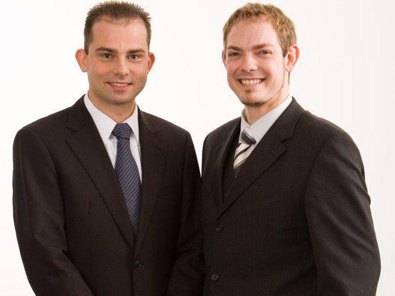 Philipp Spangenberg (links) gründete mit Markus Wetzel Baimos.