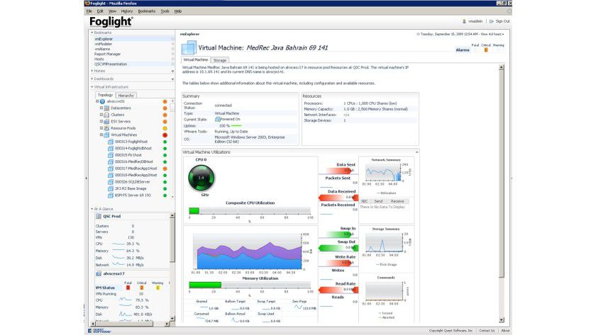Details: Überwachungssystem in einer VMware-Umgebung.