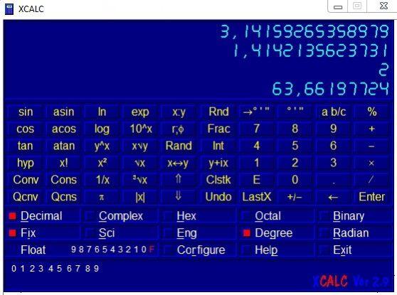 Der UPN-Rechner XCALC