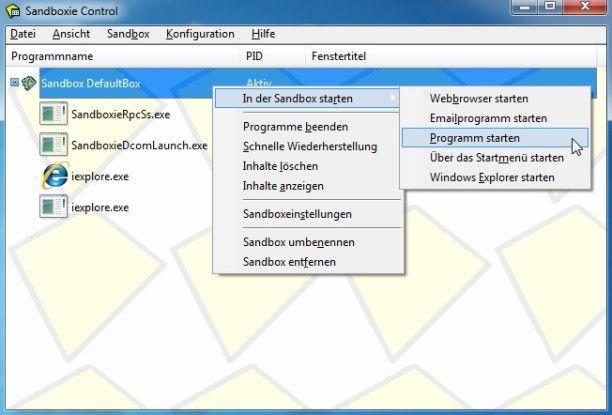 Sandboxie bietet auf dem PC eine abgeschottete Umgebung für experimentierfreudige User.