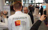 HPI-Studenten beim IT-Gipfel 2011 in München.
