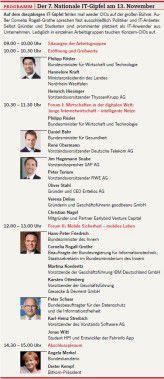 Programm: Der 7. Nationale IT-Gipfel am 13. November