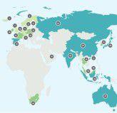Die Karte zeigt, welche Platzierungen im Gesamtranking die dargestellten Länder erreichten. Hellgrün ist gut, blau eher mau.