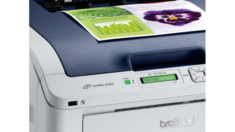 Bei Laserdruckern ist die WLAN-Fähigkeit noch eher die Ausnahme, wie hier beim Brother HL-3070CW.
