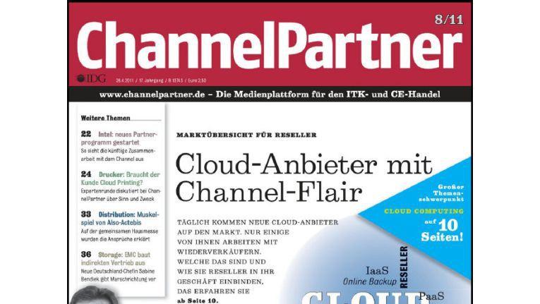 Titelseite der ChannelPartner-Ausgabe 8/11