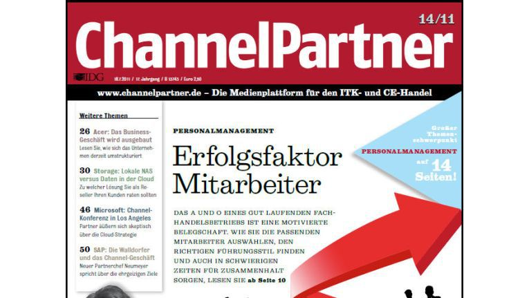 Titelseite der ChannelPartner-Ausgabe 14/11