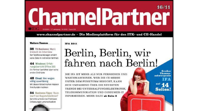 Titelseite der ChannelPartner-Ausgabe 16/11