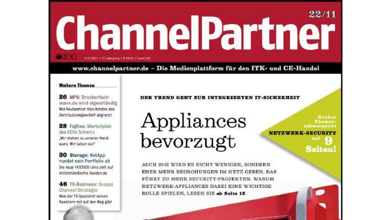 Titelseite der ChannelPartner-Ausgabe 22/11