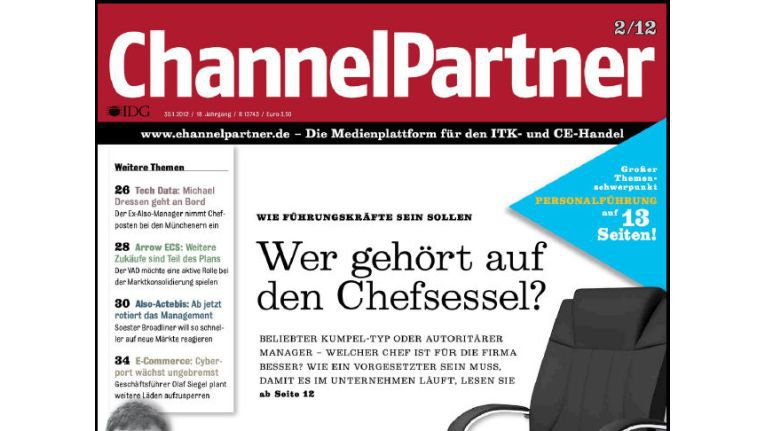 Titelseite der ChannelPartner-Ausgabe 2/12